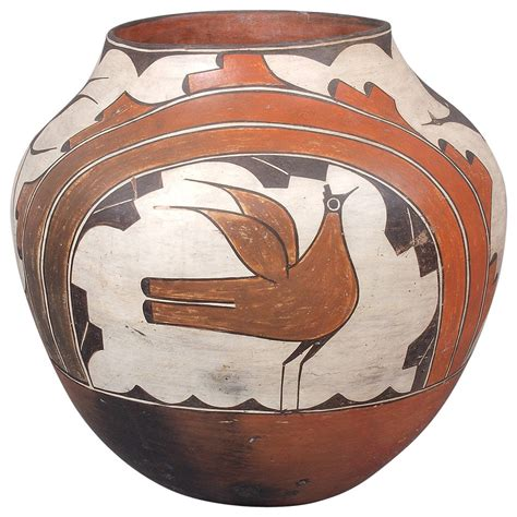 Early 20th Century Zia Pueblo Large Pottery Olla Zia Early 20th Century At 1stdibs