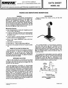 Shure 450 Service Manual Download  Schematics  Eeprom  Repair Info For Electronics Experts