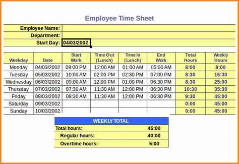 payroll timesheet calculator simple salary slip