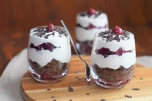 Schwarzwälder Kirsch Dessert im Glas Ofenliebe baking cooking love