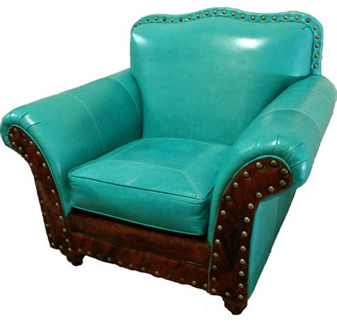 albuquerque club chair turquoise southwestern