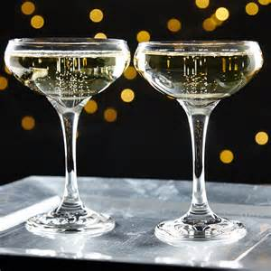 husband anniversary gift gatsby chagne coupe glasses set of 2