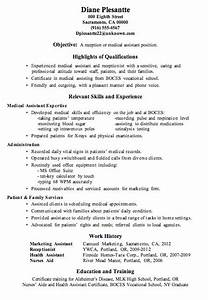 Resume Template For High School Students Resume Sample Receptionist Or Medical Assistant Medical