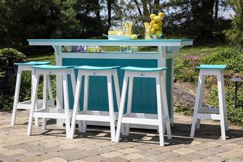 berlin gardens island poly bar set from dutchcrafters amish furniture