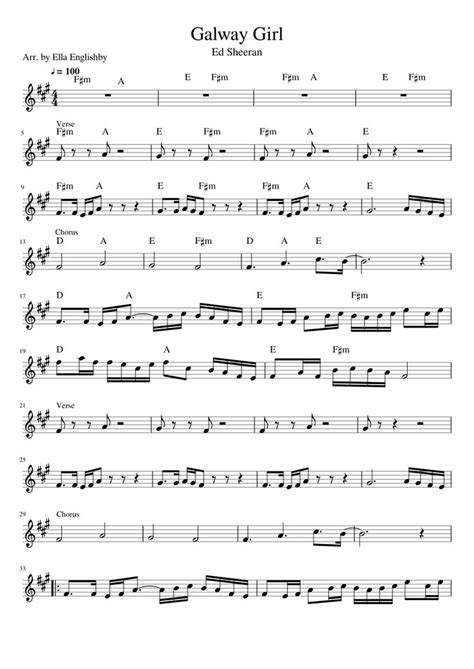 Songs by the band queen including another one bites the dust, bohemian rhapsody, crazy little thing called love, and more. Ed Sheeran Galway Girl Sheet music for Violin   Violin sheet music, Violin sheet, Sheet music