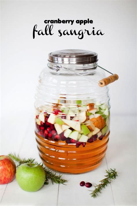 fall sangria fall sangria with cranberries apple cider thanksgiving sangria and halloween