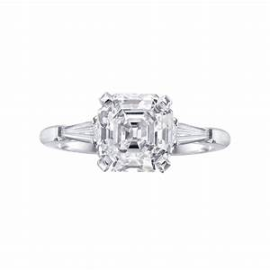 betteridge 246 carat asscher cut diamond engagement ring With asscher cut diamond wedding rings