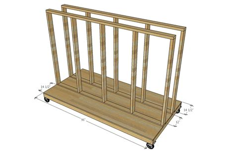 ana white ultimate lumber  plywood storage cart diy projects