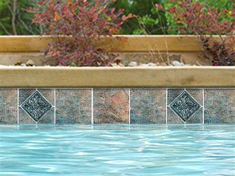 6x6 Decorative Pool Tile by National Pool Tile Gemstone 6x6 Series Emerald Deco