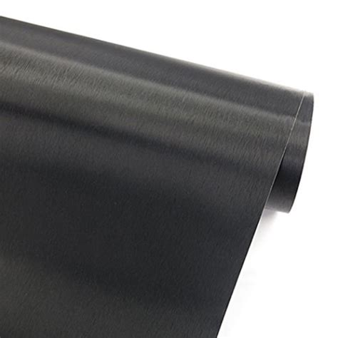 faux black brushed metal stainless steel contact paper