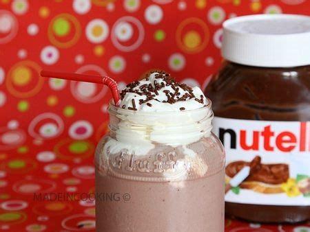 recette milk shake nutella fraises
