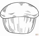 Coloring Muffin sketch template