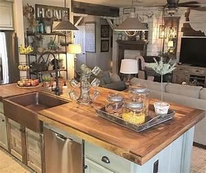 51, Amazing, Vintage, Farmhouse, Style, Kitchen, Island, Design, Ideas, Kitchenideas