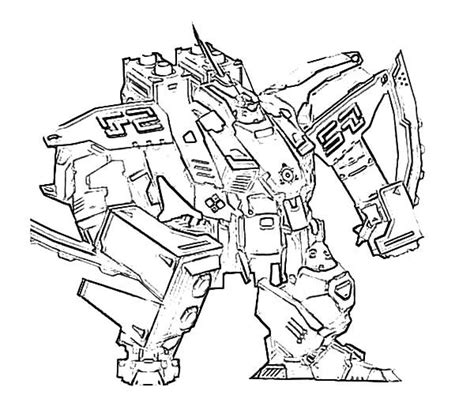 Sketch Of Combat Robot Coloring Pages