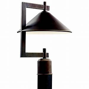 kichler 49063oz 60w ripley outdoor post light in olde With kichler outdoor pole lighting