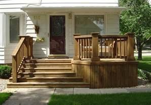 Wood Front Porch Steps Design Ideas