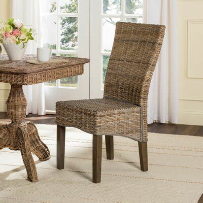 wicker rattan kitchen dining chairs youll love   wayfair