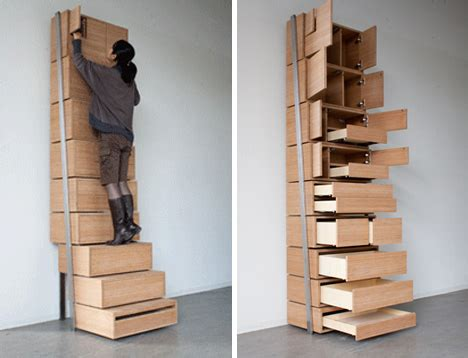 space saving staircase shelves  floor  ceiling