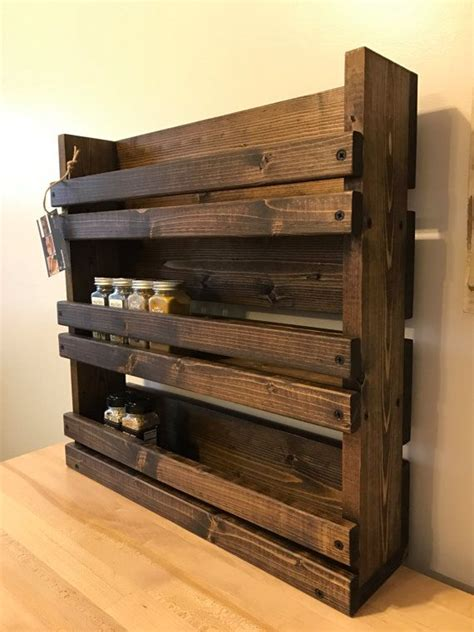 rustic kitchen storage rustic spice rack with 3 shelves kitchen by 2063