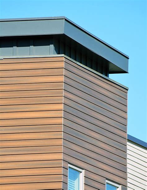wood cladding facade isnt wood  fiberon composite cladding