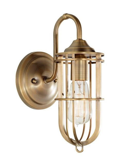Fett Industrial Brass Wall Light
