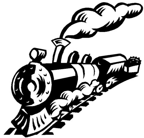 steam train silhouette cliparts co