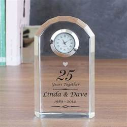 25th wedding anniversary gifts for him personalised silver wedding anniversary clock find me a gift