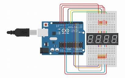 Tinkercad Segment Digit Display Led Circuit