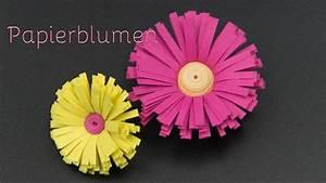 Blumen Aus Papier : basteln mit papier blumen aus papierstreifen basteln youtube ~ Udekor.club Haus und Dekorationen