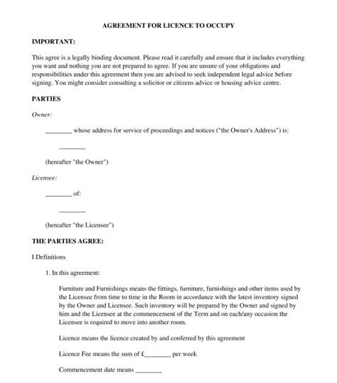 Trust Agreement Template Uk by Lodger Agreement Sle Template Word Pdf