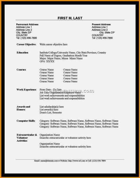 Recent Format Of Cv by Best Of Sles Cvs For Fresh Graduates In Nigeria