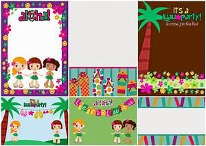 Invitaciones para Fiesta Hawaiana de Niñas para Imprimir Gratis Ideas y material gratis para