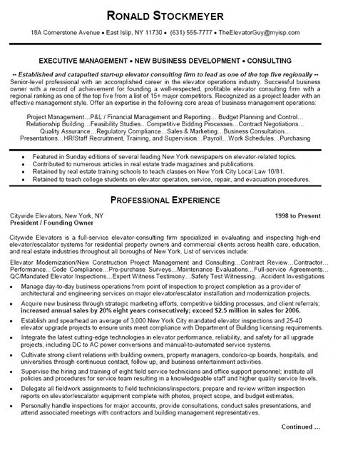 business operations executive resume