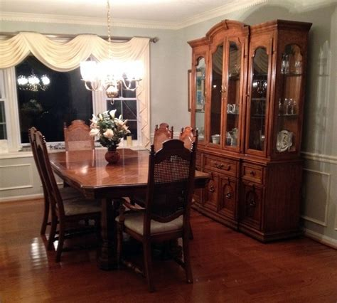 dining room table and hutch thomasville dining room table and 6 chairs w 2 piece