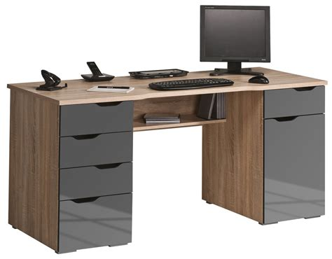 bureau laptop maja malborough oak grey computer desk