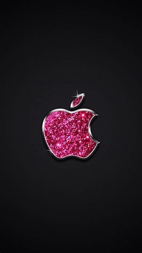sparkle pink apple logo wallpaper   apple