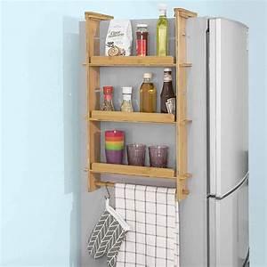 Kühlschrank Mit Eiswürfelspender Schmal : sobuy kcr03 n design h ngeregal f r k hlschrank ~ A.2002-acura-tl-radio.info Haus und Dekorationen