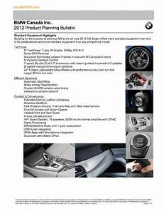 Full Bmw Canada 2012 M5  F10  Price List Guide