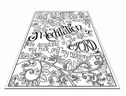 Meditation Meditations Coloring Psalms Colouring Adult Engraved