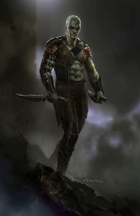 Drax, Groot, Rocket & Nova Corps Concept Art - GUARDIANS