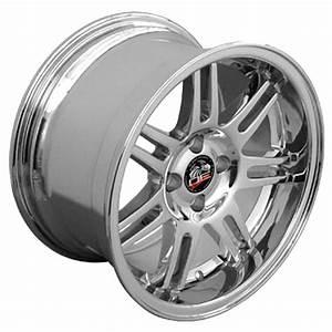 One 17x10 Chrome 10th Ann Wheel 4 Lug Fits V6 V8 Mustang® GT 94 04 B1W | eBay