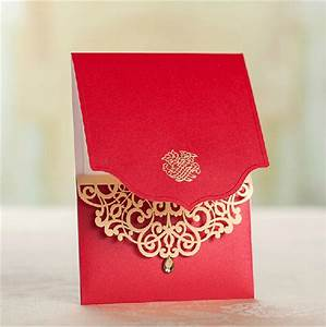 50pcs lot latest indian wedding card design laser cut With laser cut wedding invitations online india