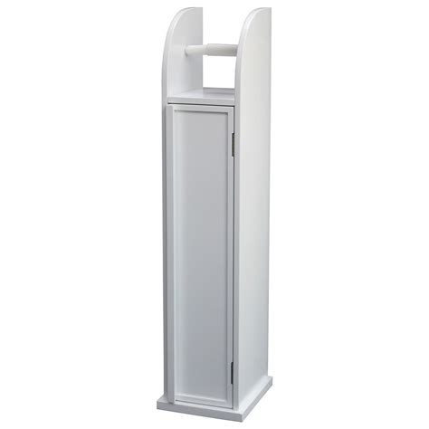 Toilet Roll Holder Cupboard by Free Standing White Storage Cabinet Toilet Roll Holder