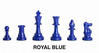 Chess Plastic Regulation Colored Chessmen Pieces Royal