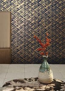 Papier Peint Deco : du papier peint art d co pour l 39 l gance marie claire ~ Voncanada.com Idées de Décoration