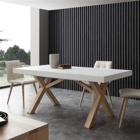 table design italienne table extensible de salle 224 manger blanche en bois massif