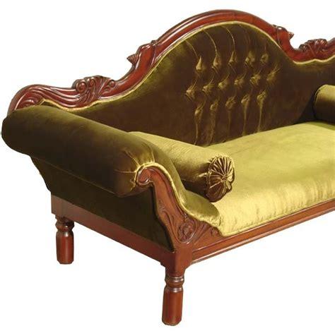 canapé style cagnard canap colonial acajou velours vert grignon meuble de style