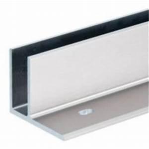 Profilé Inox En U : profil bas pour verre en aluminium anodis montage ~ Dailycaller-alerts.com Idées de Décoration