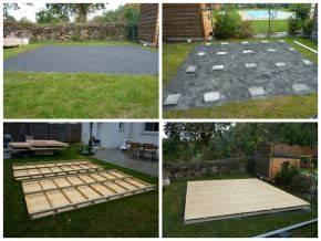 Comment poser un abri de jardin sans dalle beton Les