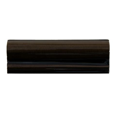 Solistone Handpainted Carbon Black 2 In X 6 In Ceramic